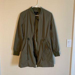 Forever 21 olive green zip-up jacket